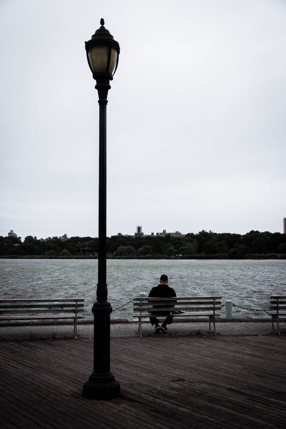 man siting on bench