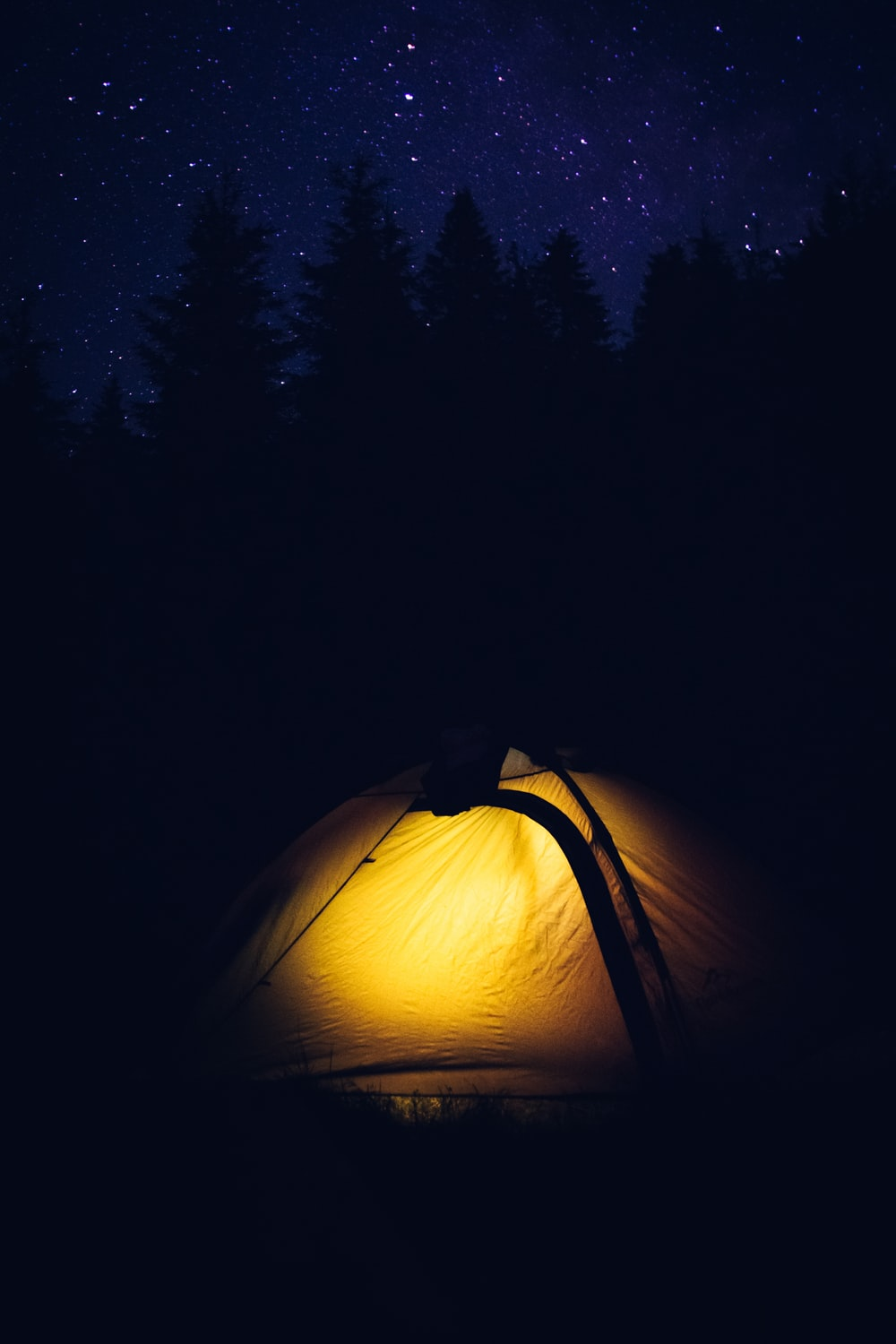white and black camping tent