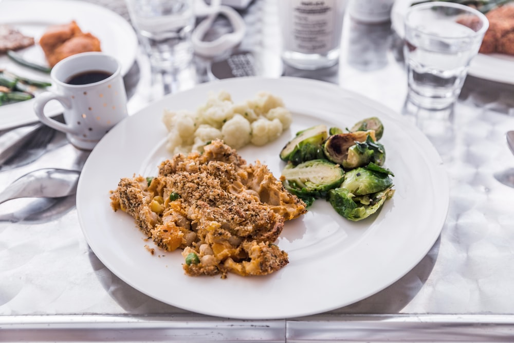 plate of cooked food