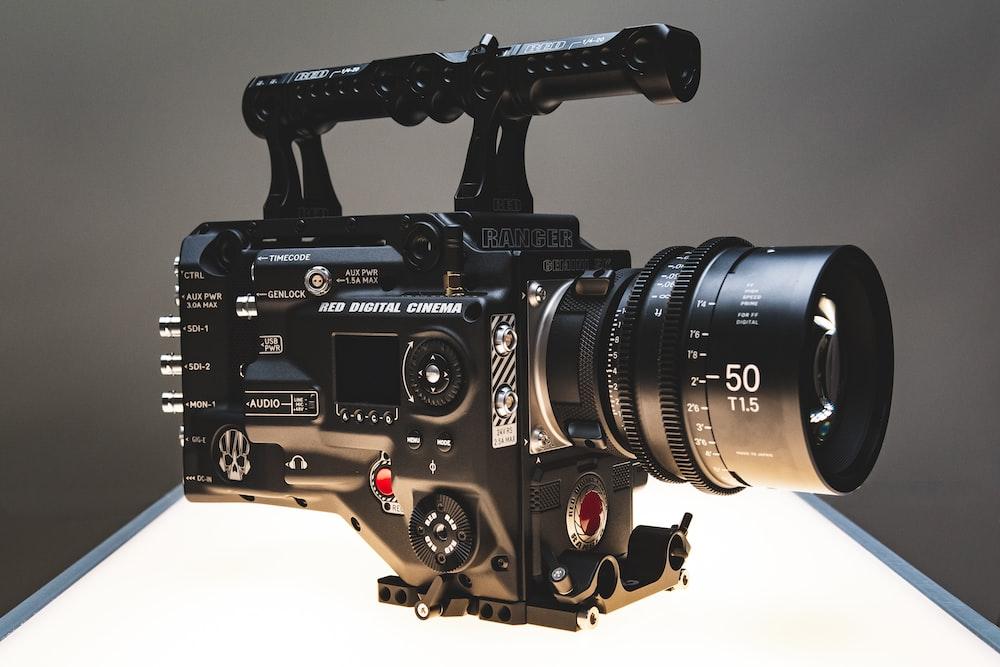 black professional camera