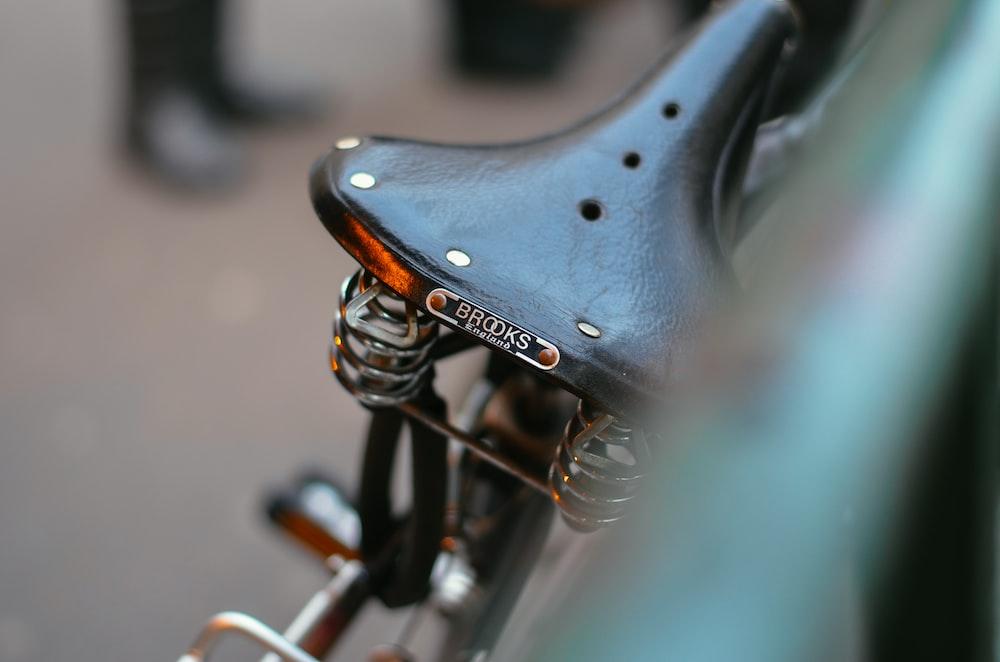 black brooks leather bicycle saddle