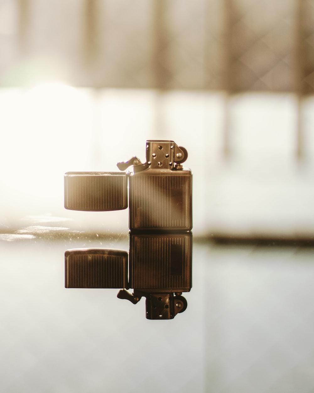 photo of brown flip lighter