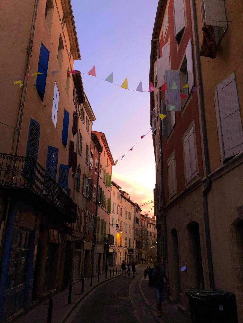 street between buildings