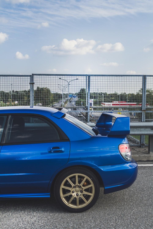 blue sedan