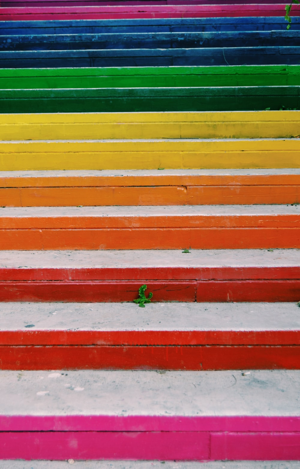 assorted-color stairs