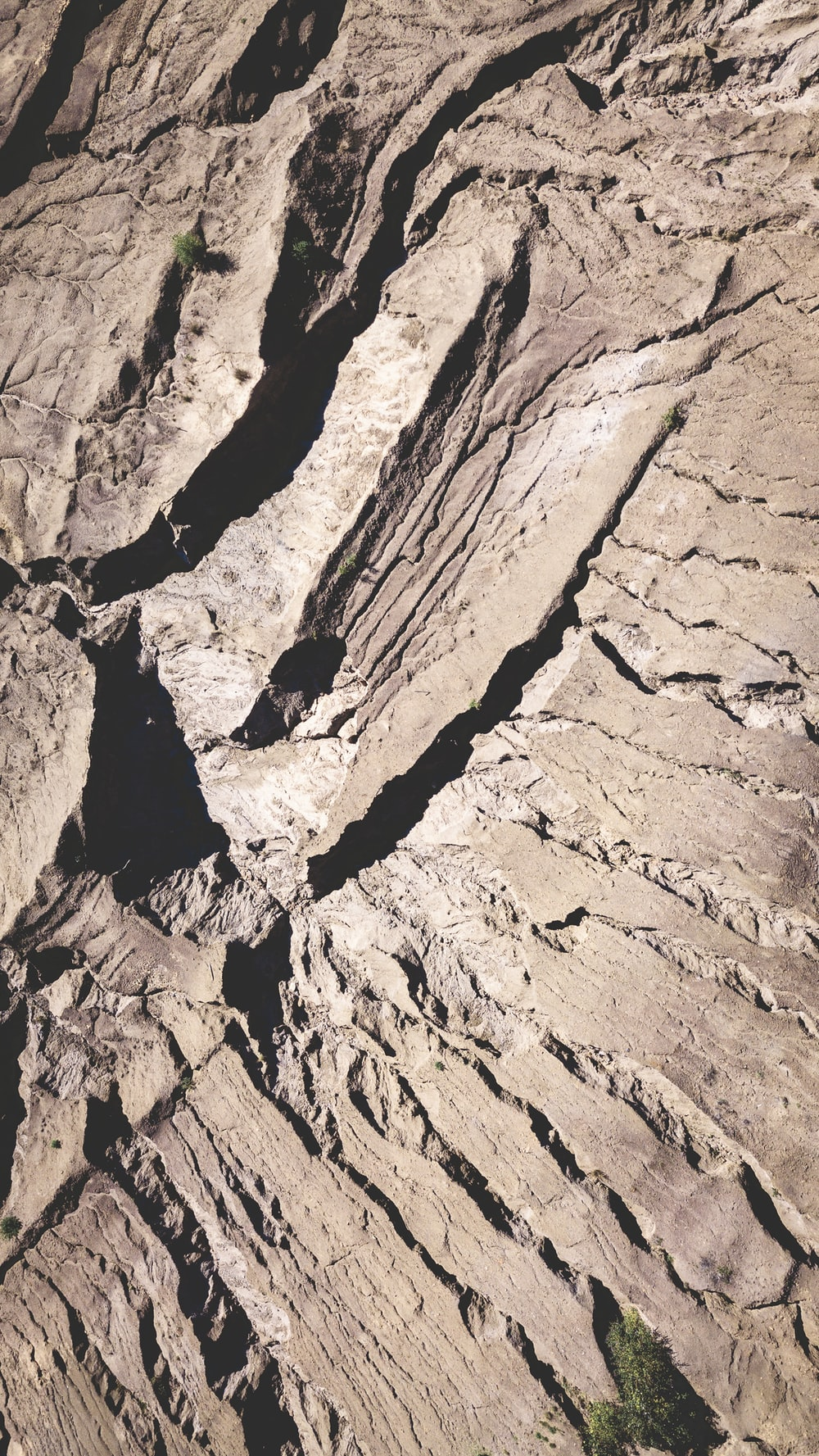 aerial photography of gray mountains