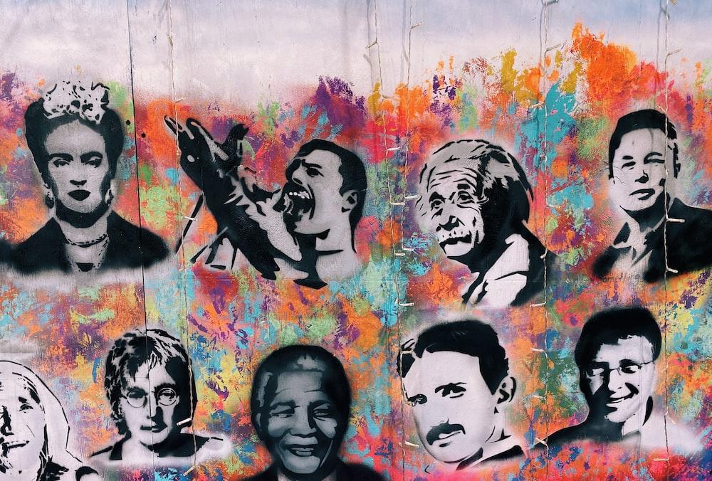 famous person graffiti