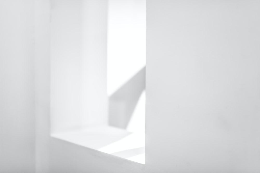 white painted window