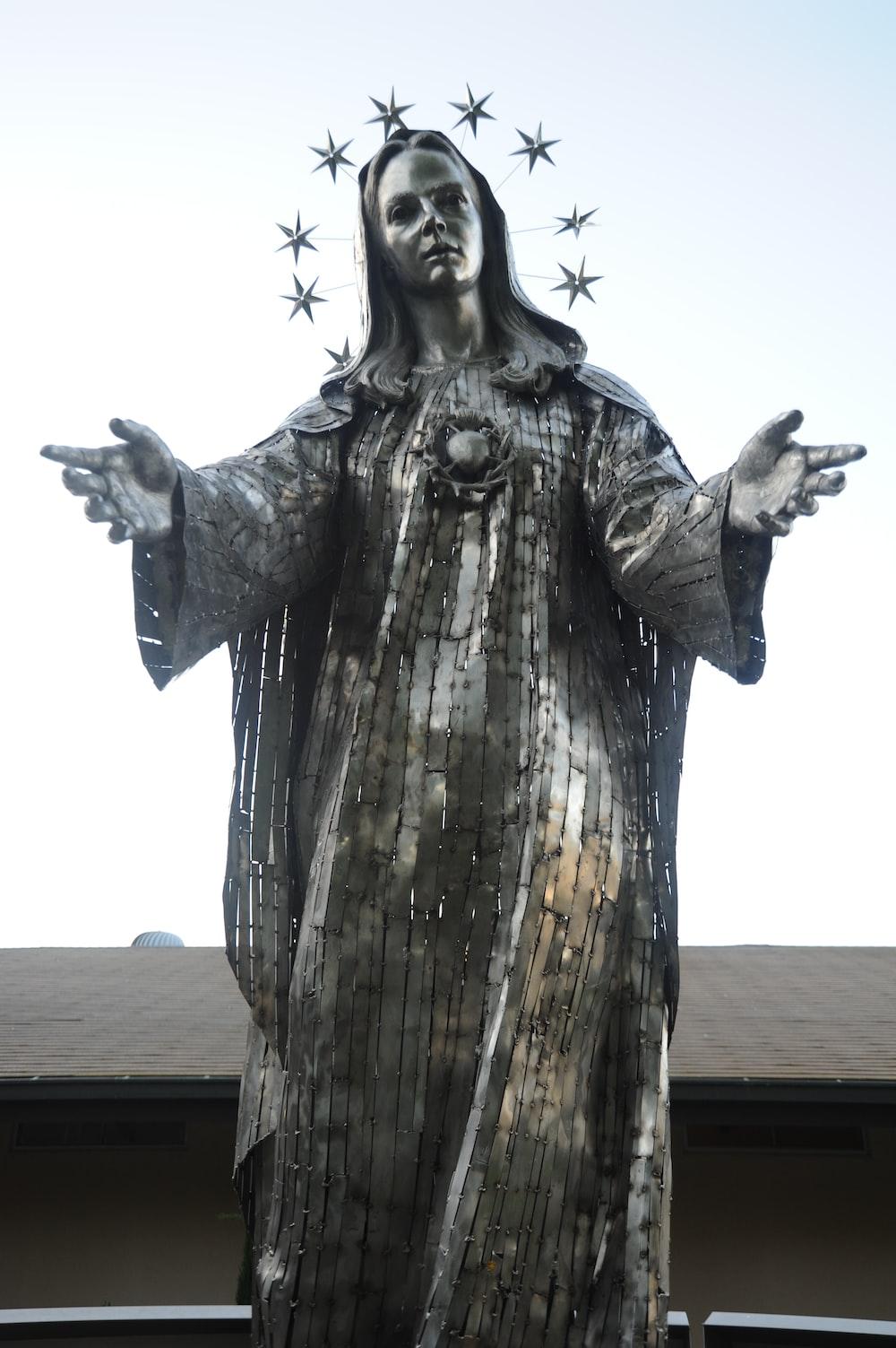 Mary concrete statue