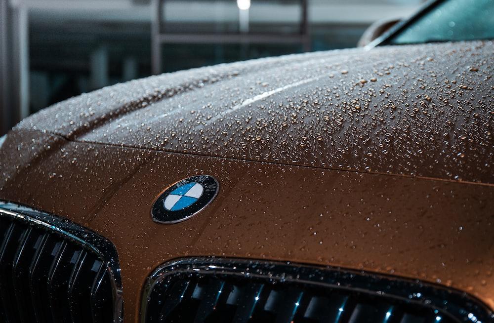 closeup photo of brown BMW vehicle