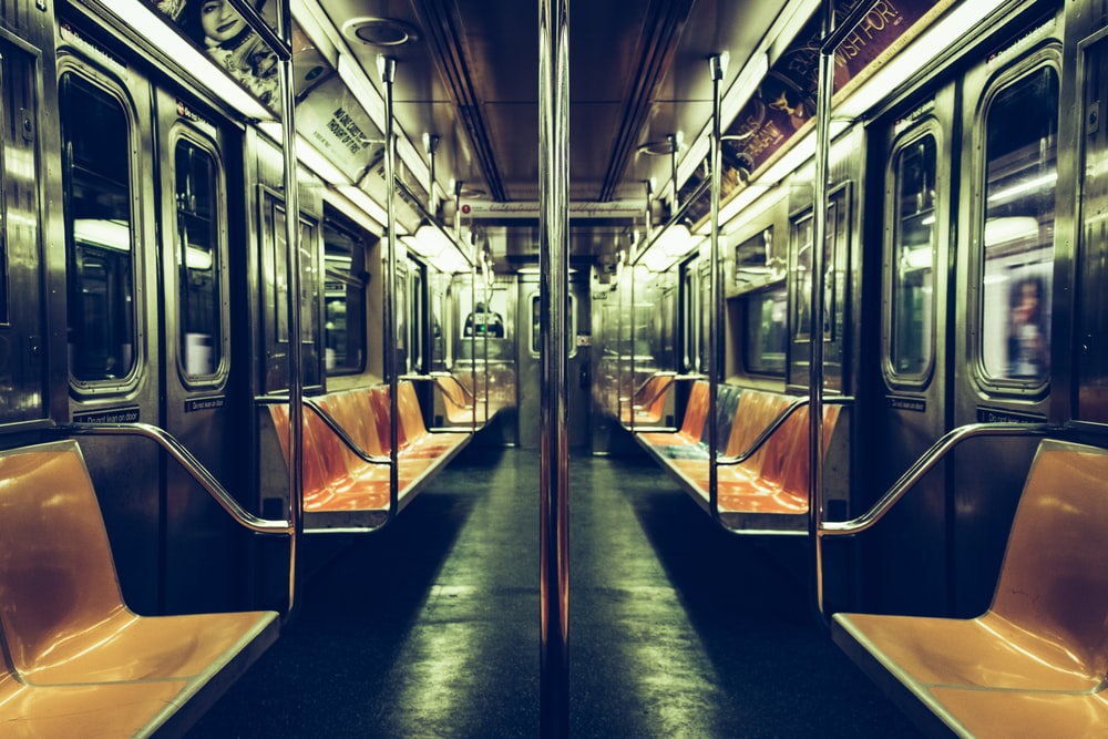 inside train with no people