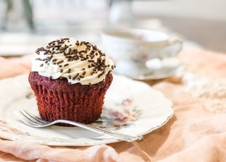 chocolate cupcake with toppings