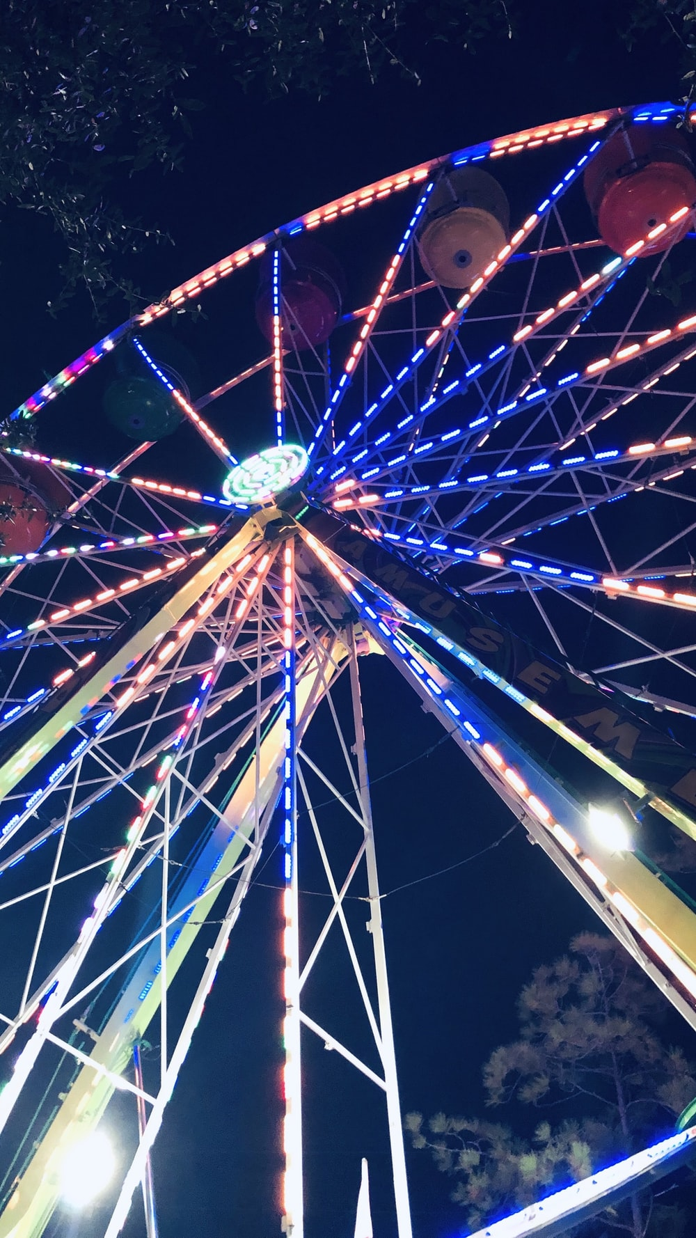 lighted ferris wheel
