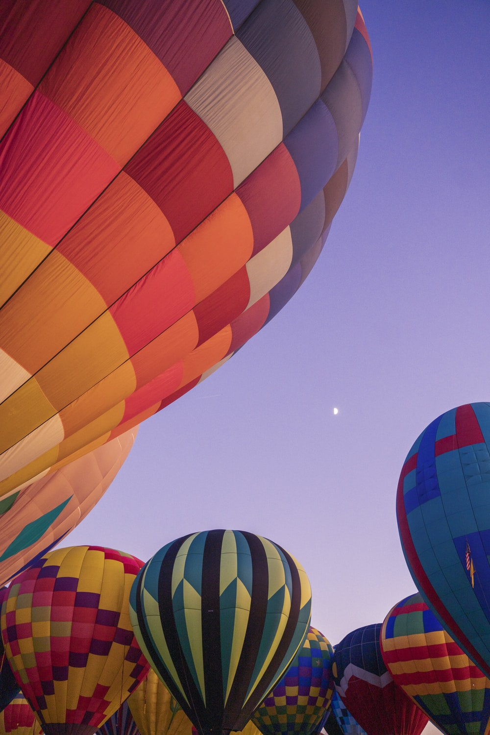 assoted-color of hot air balloons