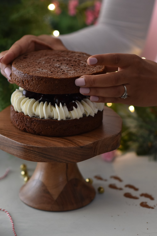 round brown cake