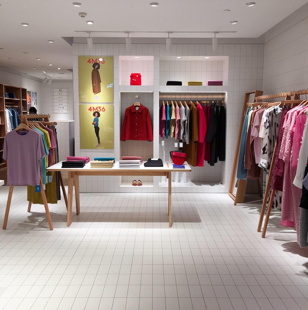 assorted-color clothes lot