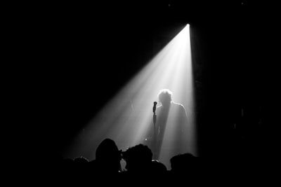 silhouette of microphone