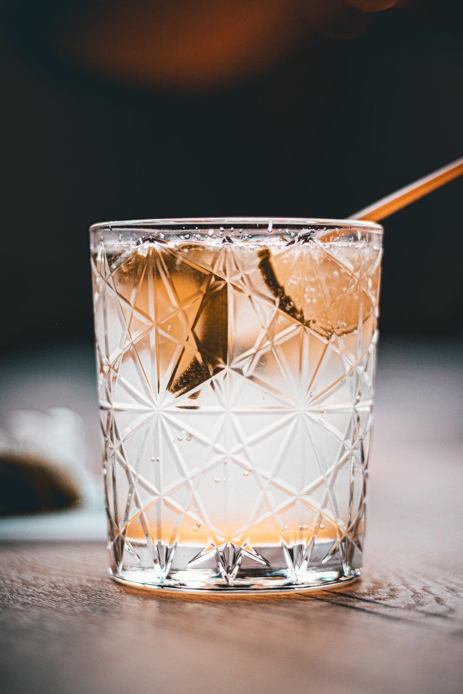 clear cut glass cup