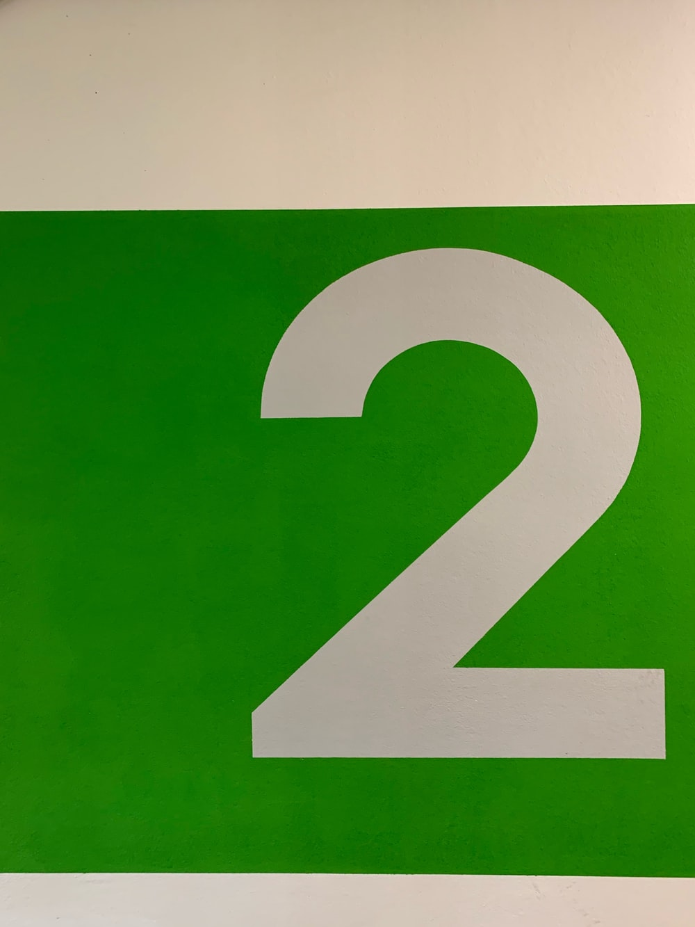 green and white 2 number