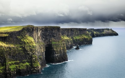 sea and cliff during daytime ireland teams background