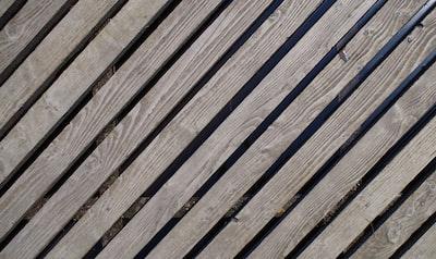 brown wooden deck