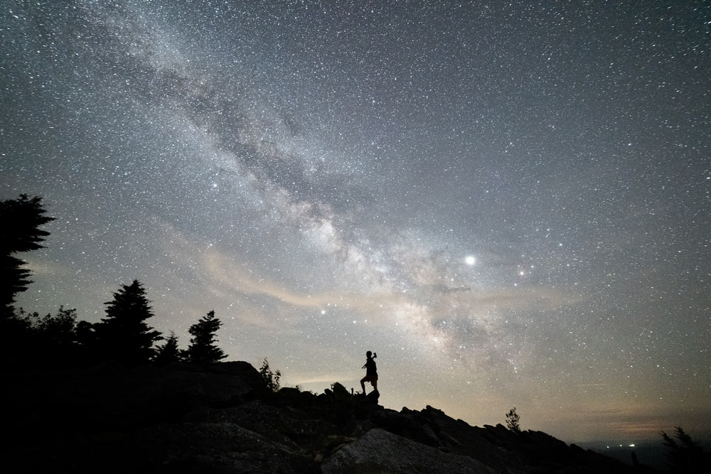 gray and brown milky way