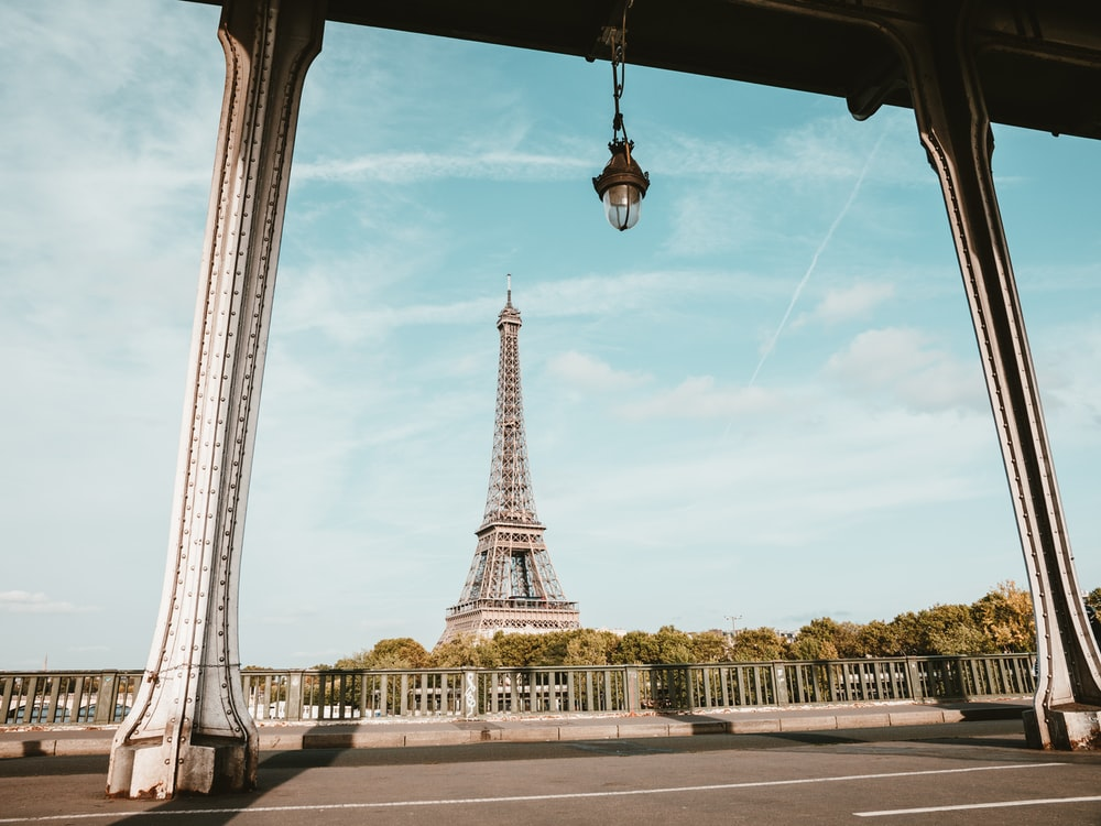 Eiffel Tower in Paris France under white and blue sky during daytime