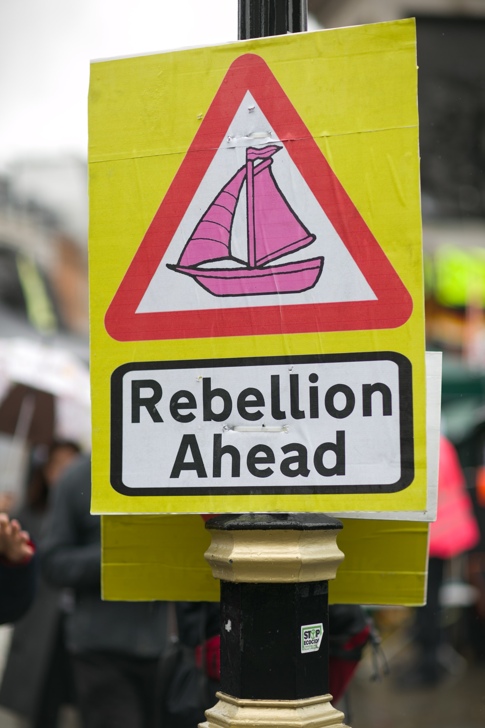 Extinction Rebellion Sign at the climate protests in London