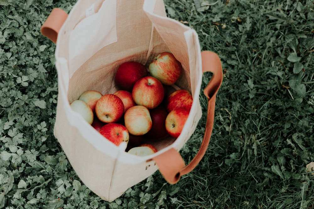 bag full of apples