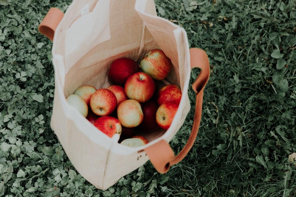 bag full of apples