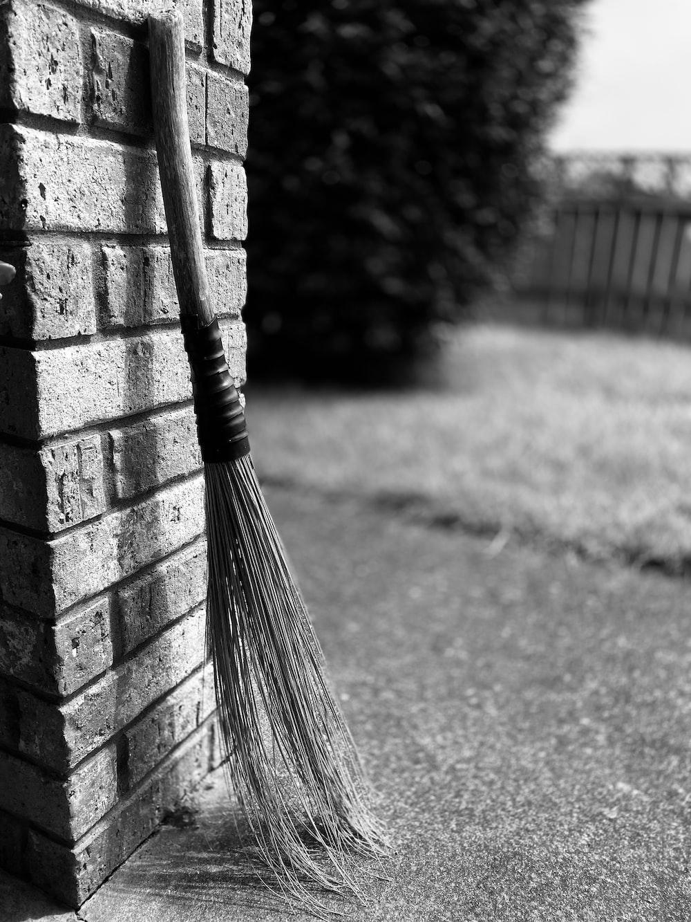 broom place near wall