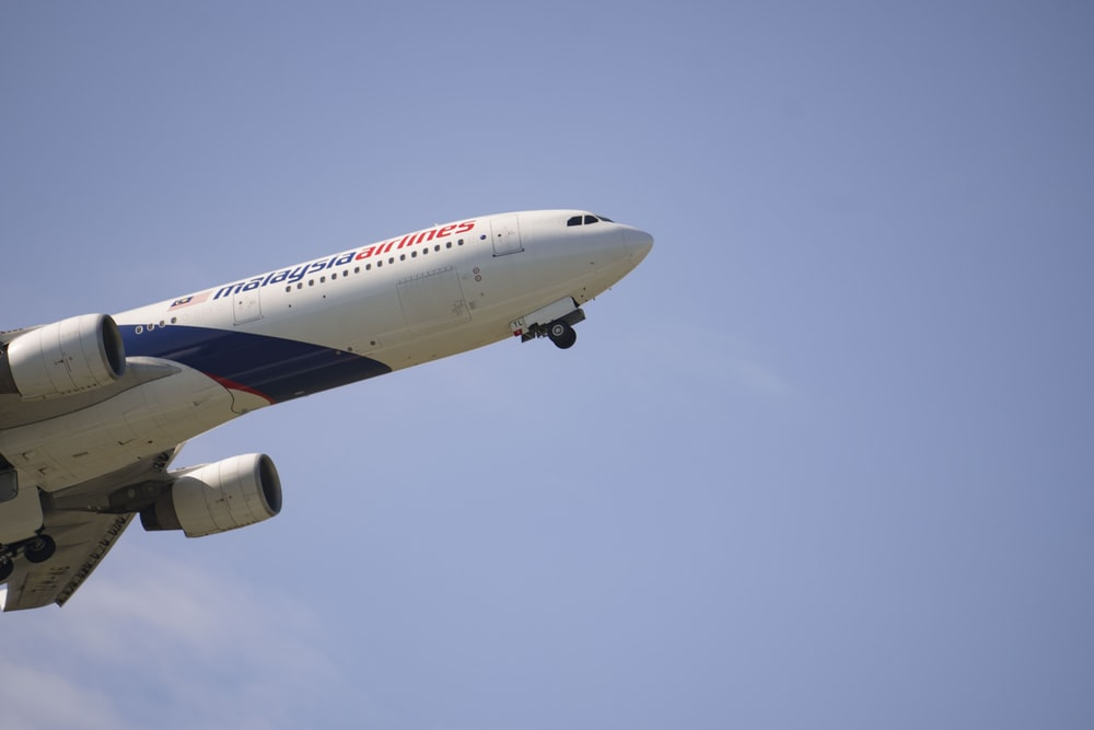 flying Malaysia Airlines airplane