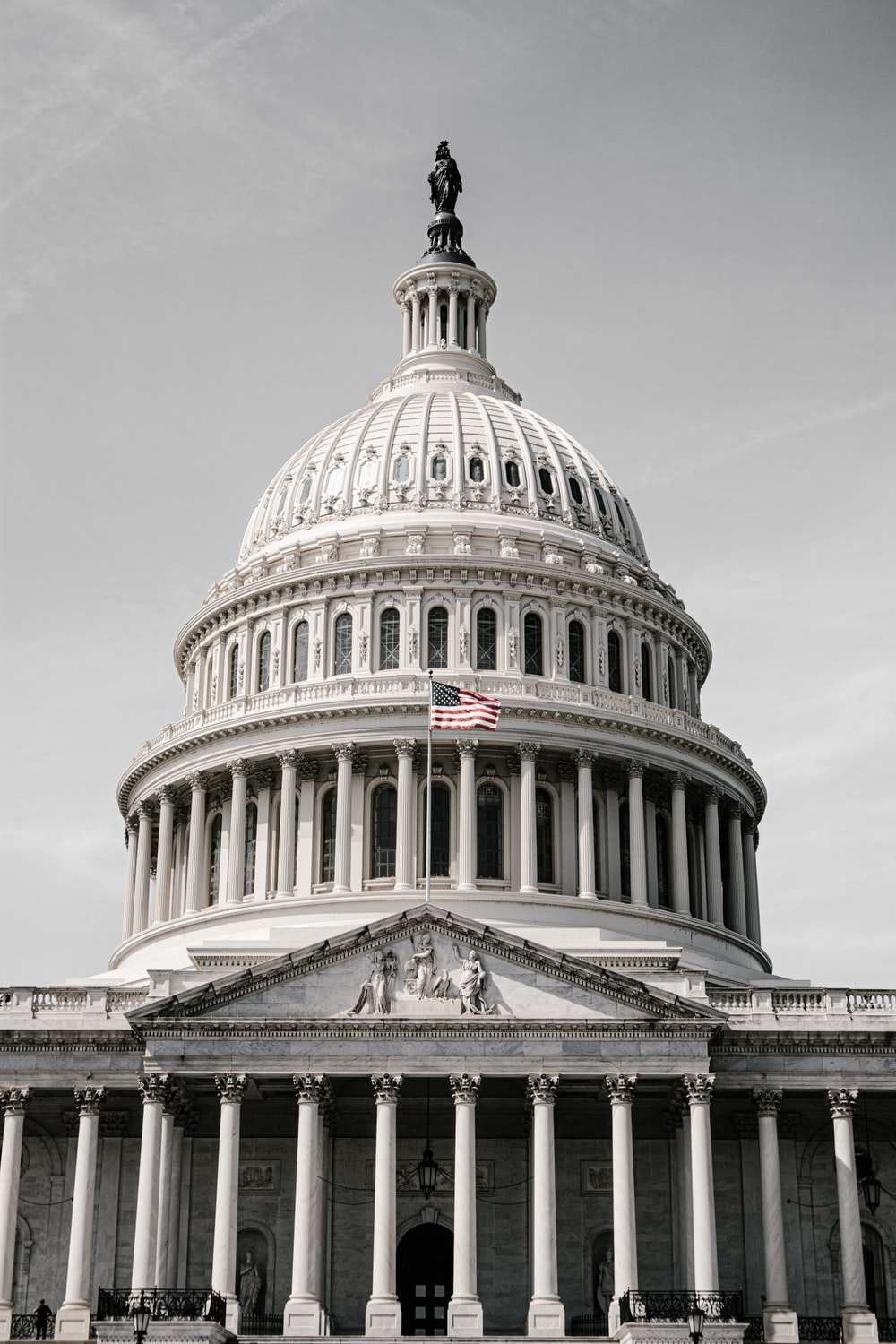 low-angle photography of a U.S. Capitol
