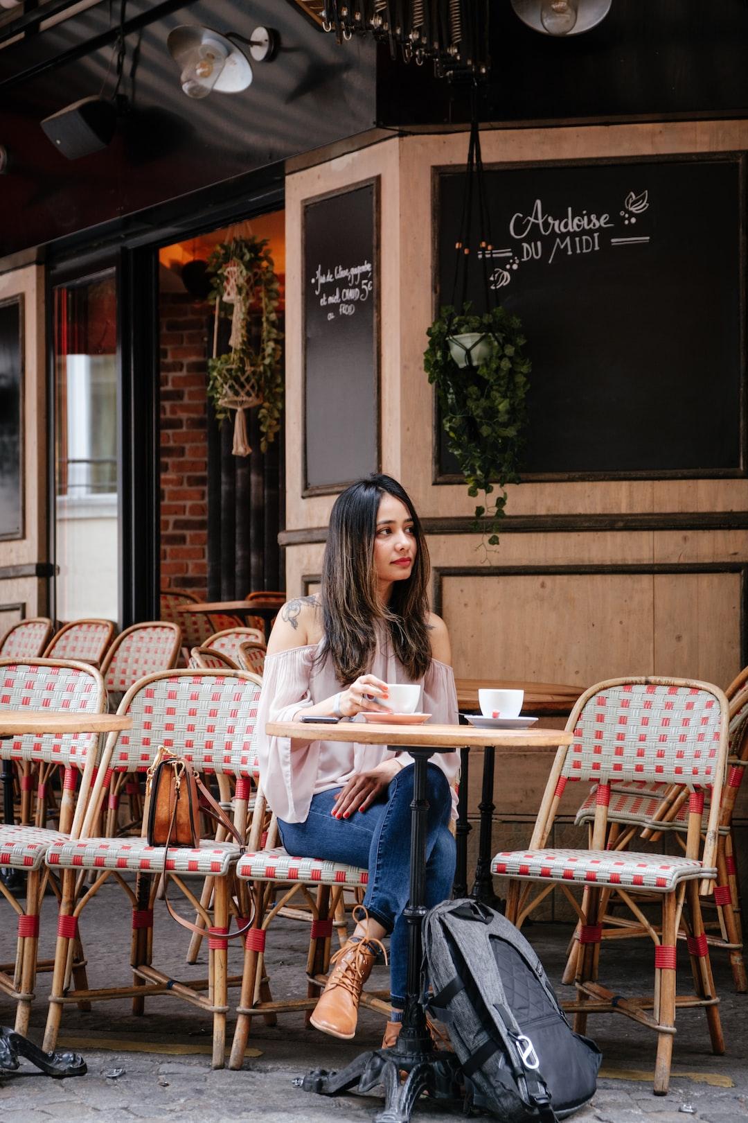 Coffee at Parisian terrace