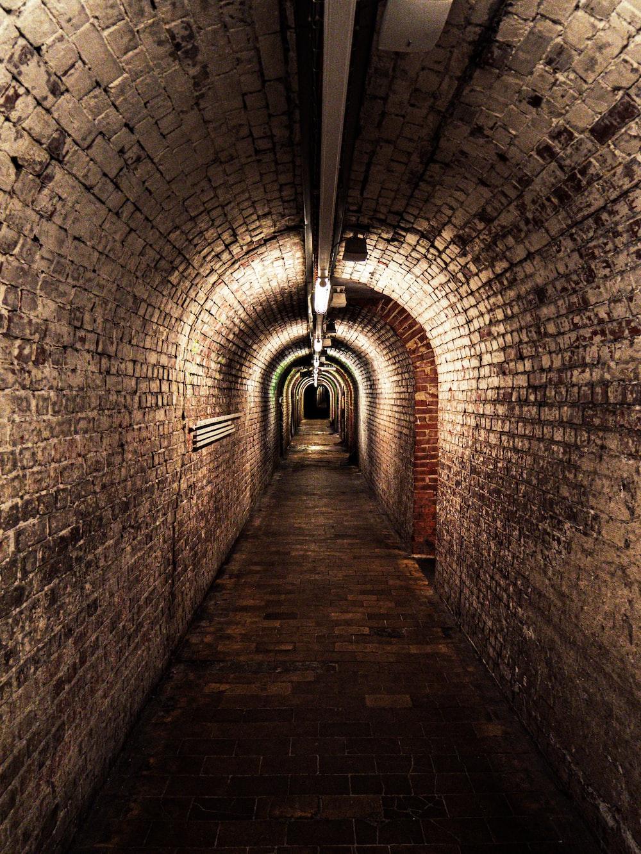 brown concrete tunnel