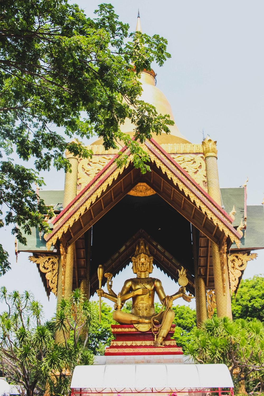Shiva Nataraja statue under a gazebo