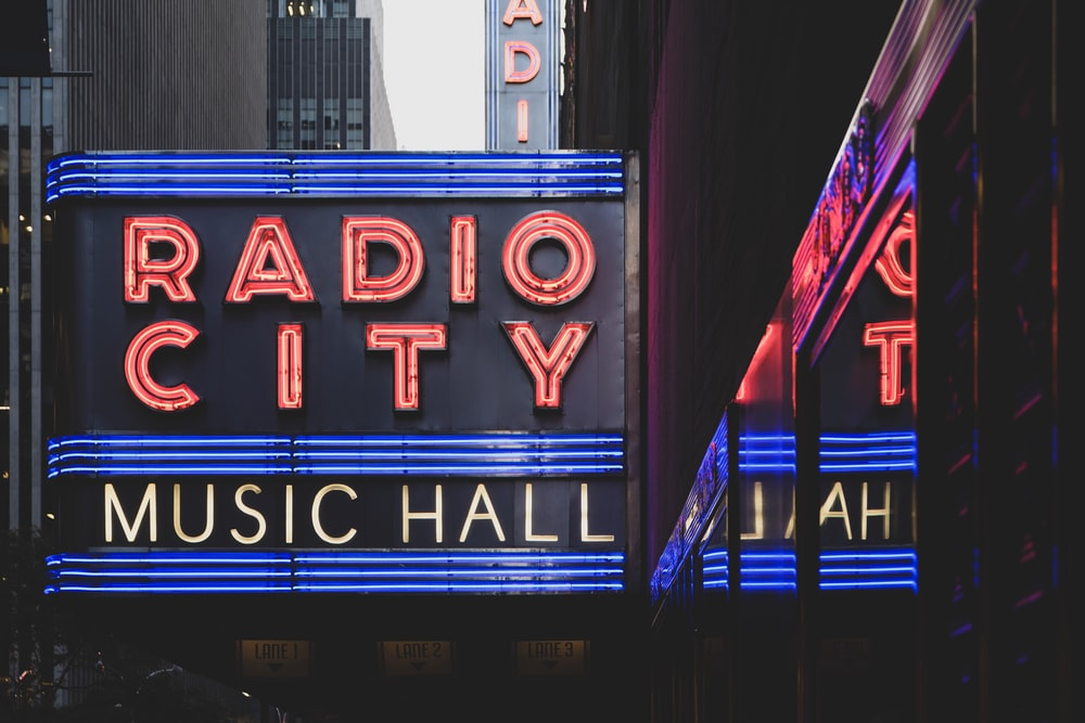 Radio City music hall signage