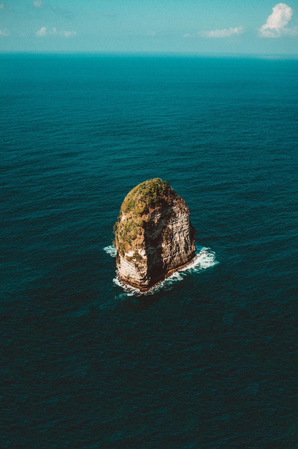 gray coastal stack during daytime
