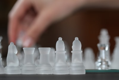 clear acrylic chessboard game set