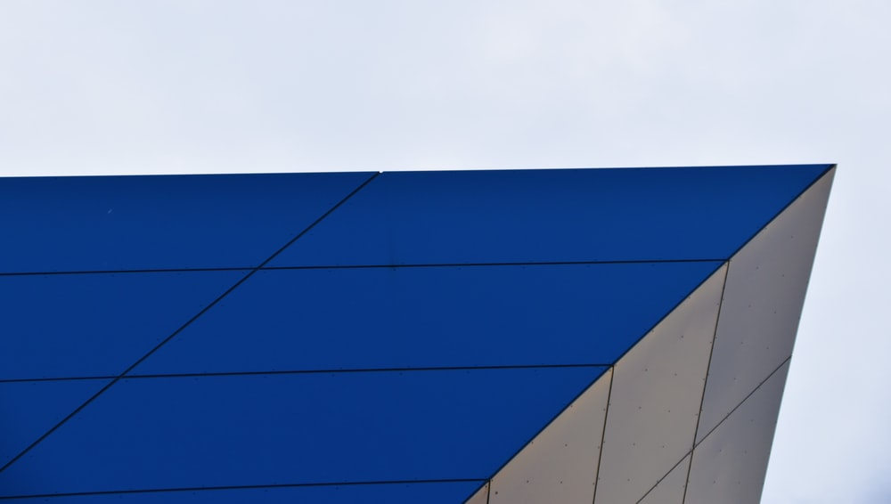 blue and grey building
