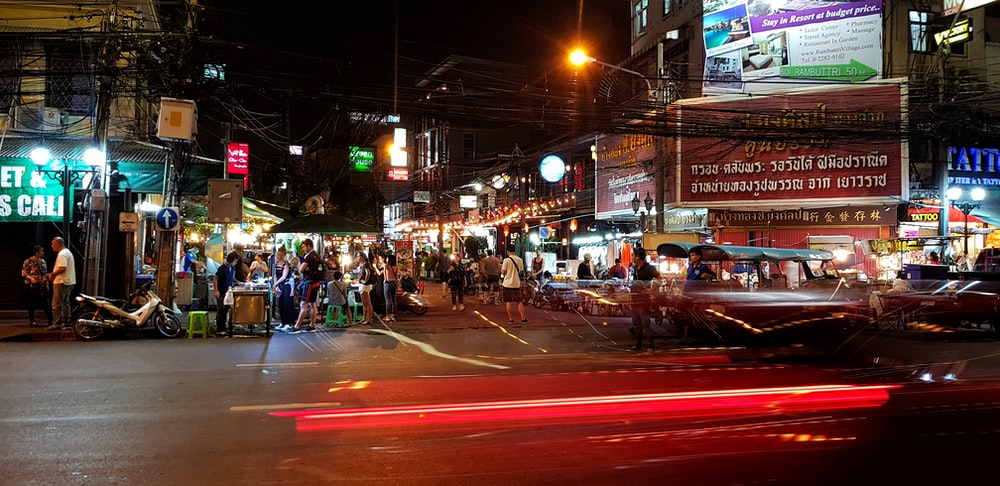 people on street during nighttime