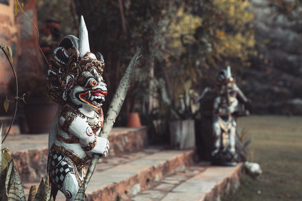 close-up photo of garuda statue