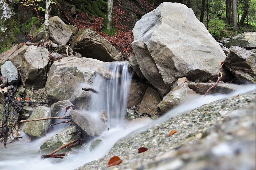 rocks on river