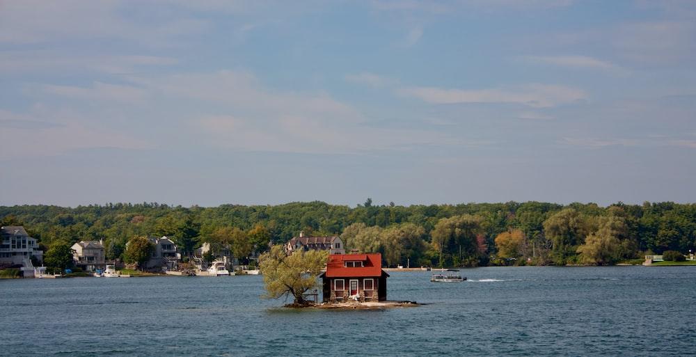 house in middle of lake