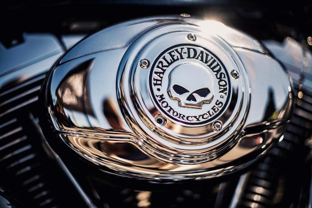 chrome-colored Harley-Davidson Motorcycles logo