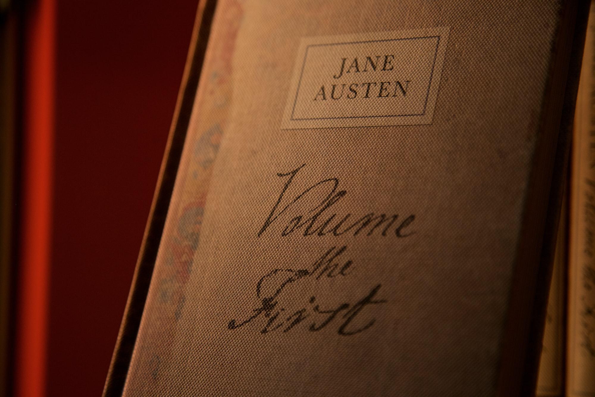 Austen in an old Oxford bookshop.