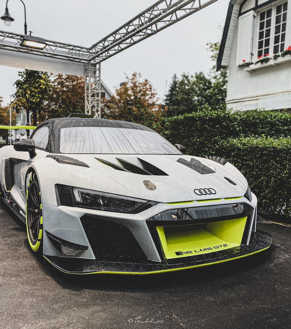 gray Audi coupe