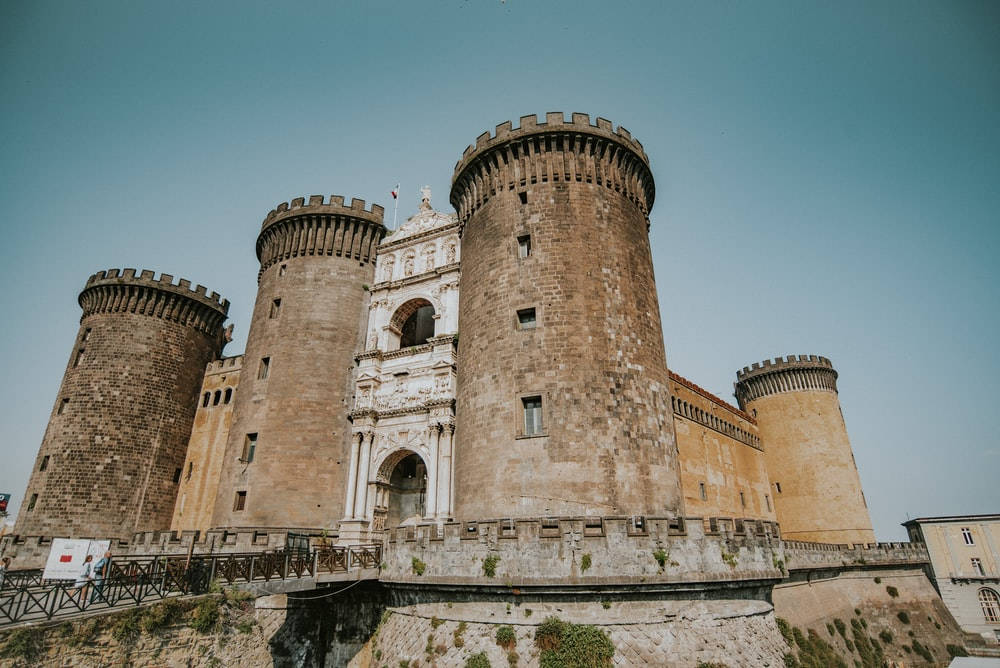 brown concrete castle