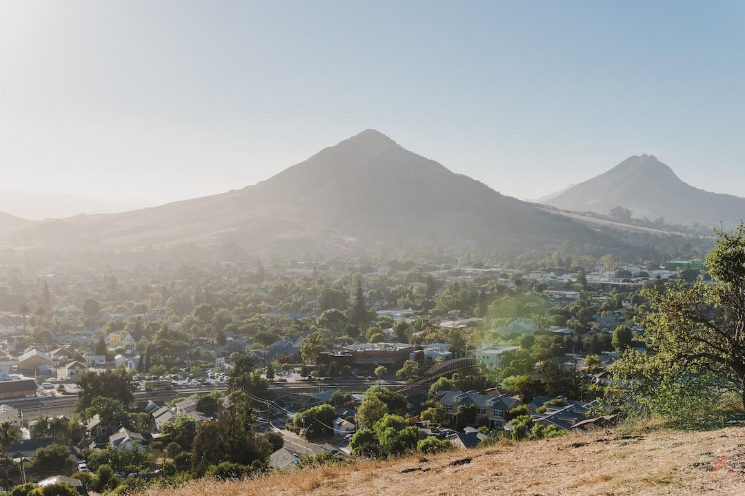 Daytime view of Madonna Mountain