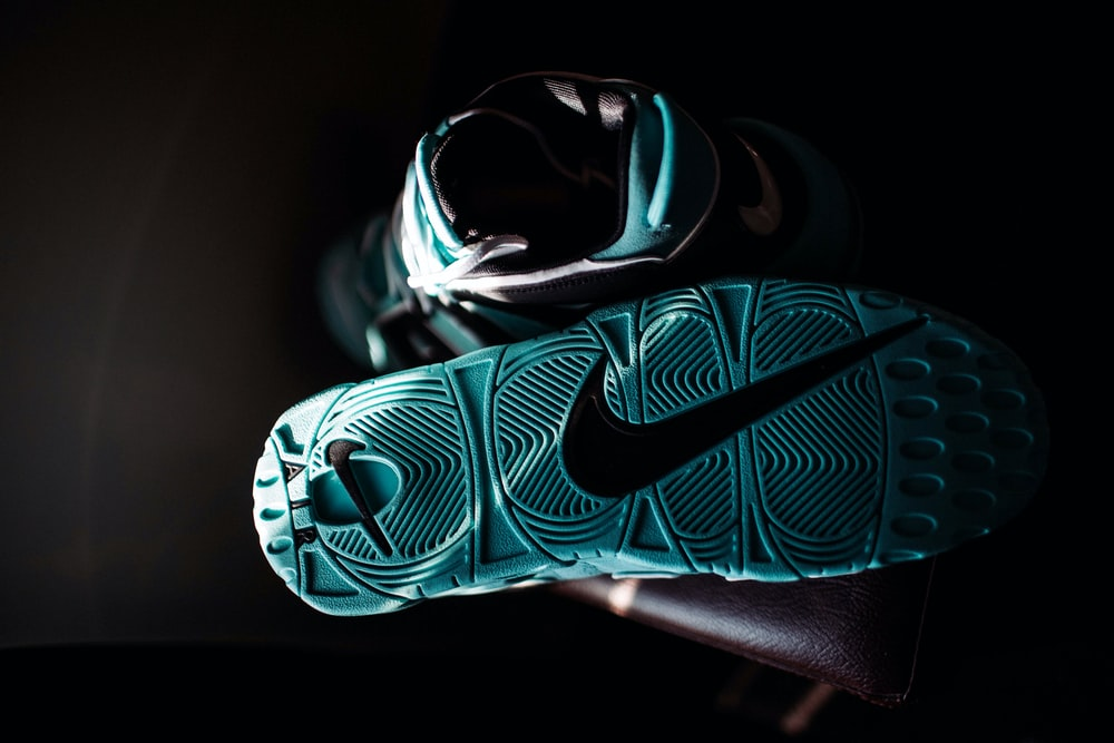 teal Nike basketball shoes